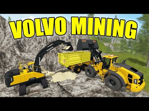 Farming Simulator 2017 | MINING | RUNNING THE EXCAVATOR!