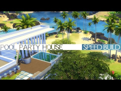The Sims 4 Speed Build - Pool Party House (Tropical Getaway)