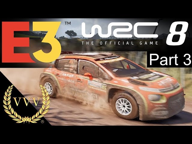 WRC 8 - Chile Controller Gameplay - E3 2019 Part 3