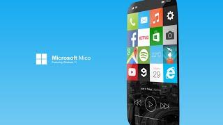 Microsoft Mico with Windows 11 New Smartphone  Concept 2015