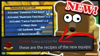 *NEW* HOW TO CRAFT ALL NEW ITEMS & FINAL PRE -UPDATE CODE | Roblox Bee Swarm Simulator