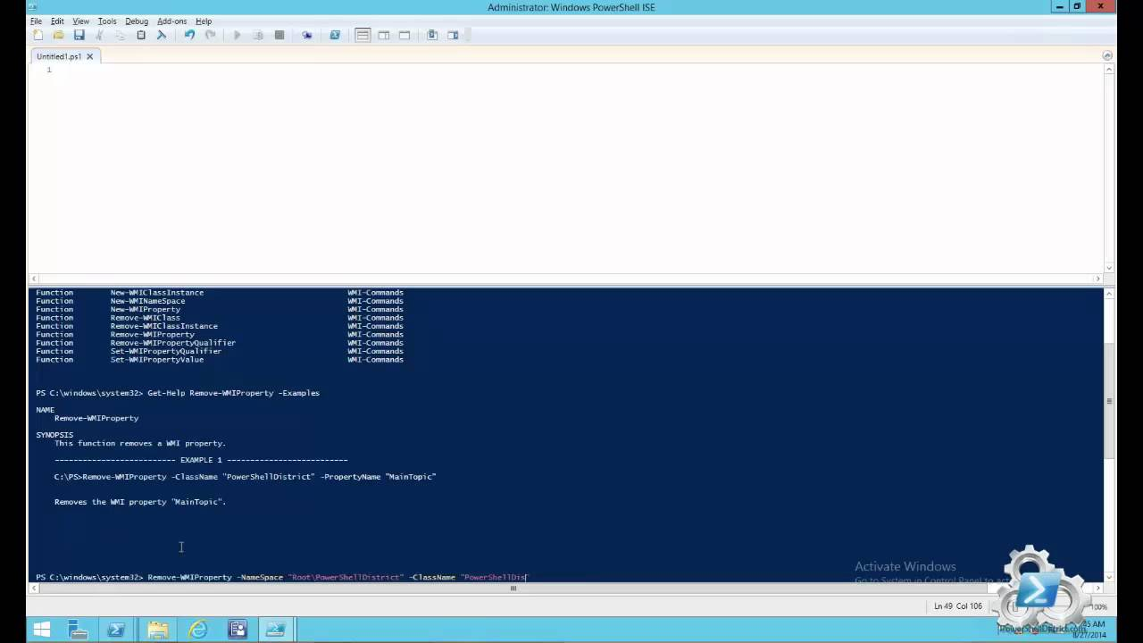 Powershell WMI Week day 4: How to remove a wmi property with Powershell