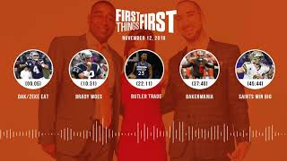 First Things First audio podcast(11.12.18)Cris Carter, Nick Wright, Jenna Wolfe | FIRST THINGS FIRST