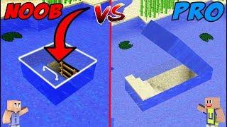 - MINECRAFT NOOB VS PRO Rumah Bawah Air