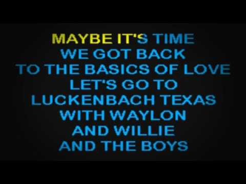 SC2087 08   Jennings, Waylon   Luckenbach, Texas [karaoke]