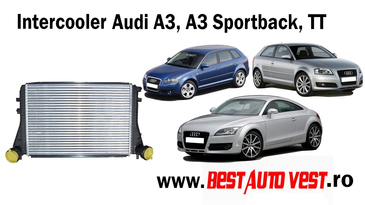 intercooler audi a3 8p1 a3 sportback 8pa 1 9 tdi 1 8. Black Bedroom Furniture Sets. Home Design Ideas