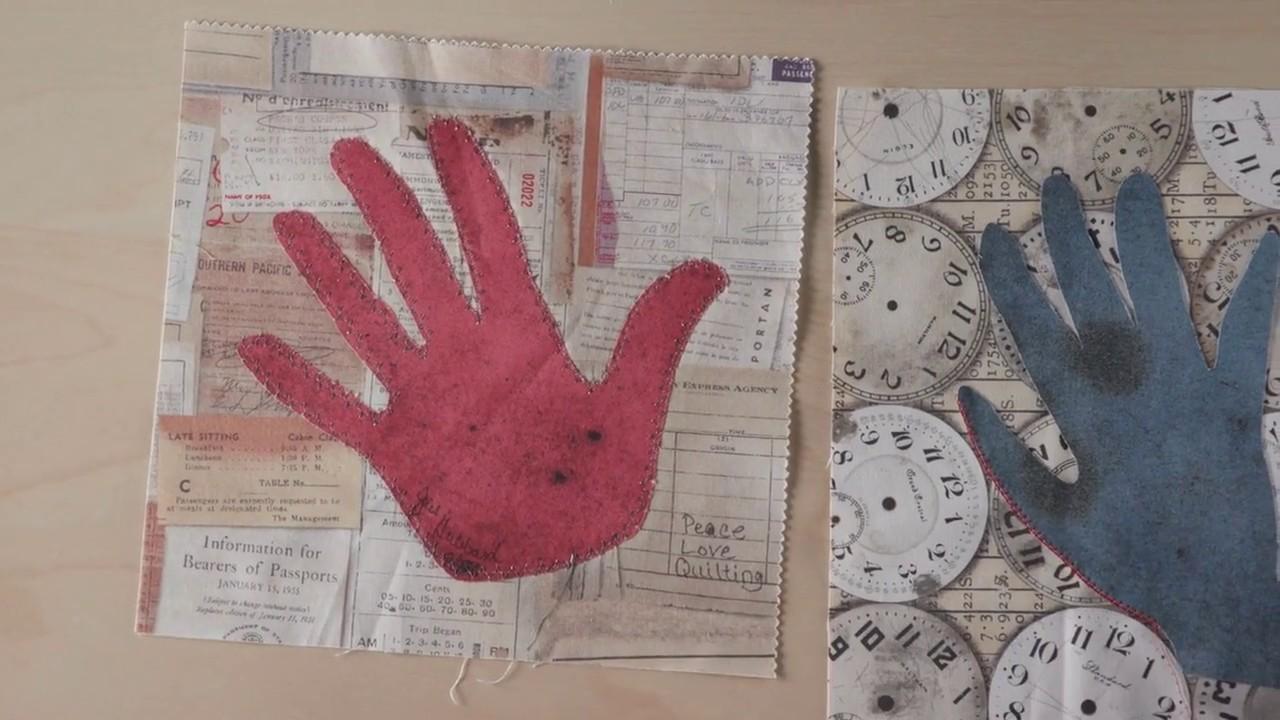 Full episode memory quilts handprint applique signature blocks