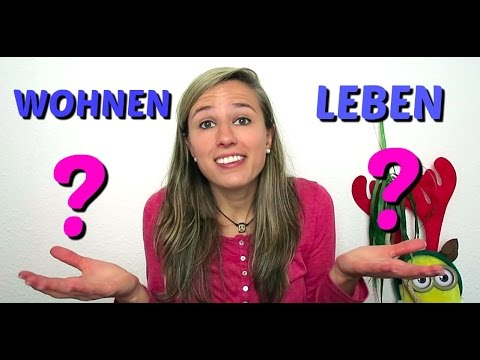 German Faq Difference Between Wohnen And Leben Youtube