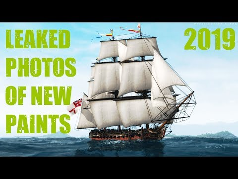 Naval Action: Leaked Paint Photos & Previews 2019 (Shallow Ships - Part 1)