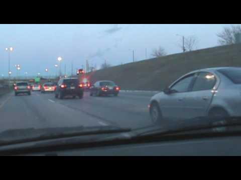 Source of Traffic Jam, I-94 East, Detroit, Michigan, February 9, 2017