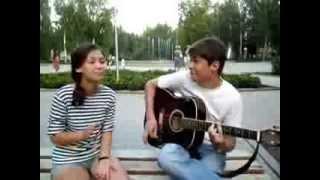Классная песня под гитару на французском