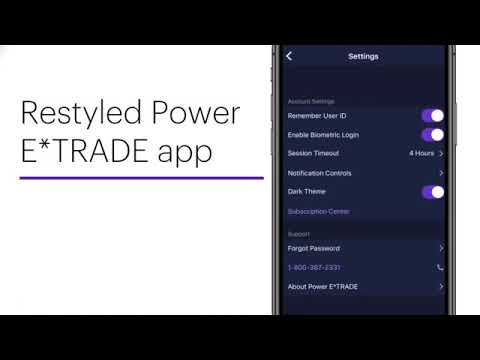 Introducing the New Power E*TRADE App
