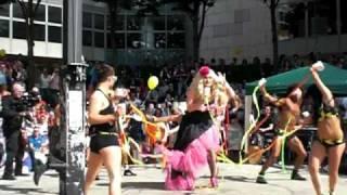 victoria secret and the dragon dancers, gay pride dublin 2010, costumes by fionnuala bourke