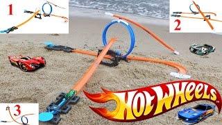 Хот Вилс с трассами и машинкой распаковка игрушки / Hot Wheels  Track Builder DGD29