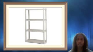 Sterilite 4 Shelf Shelving Unit Platinum