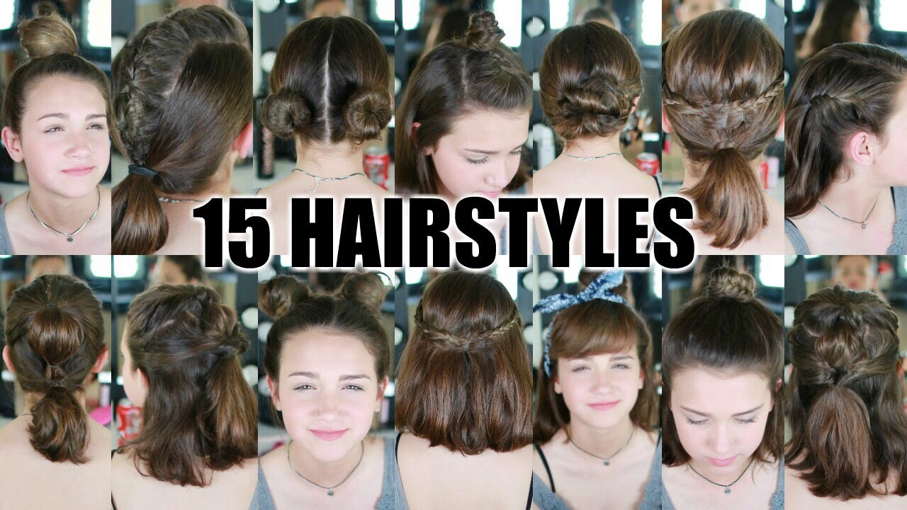 15 Heatless Hairstyles For Short Hair Back To School Youtube