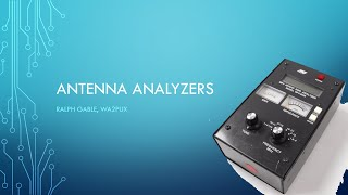 Using Antenna Analyzers (007b )