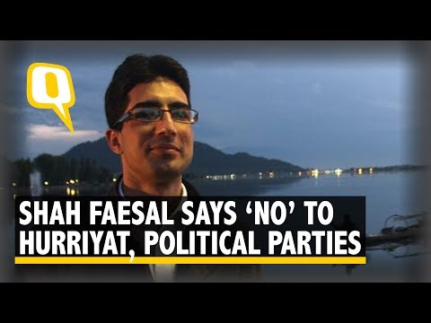 Shah Faesal Addresses Media On His Plans of Joining Politics