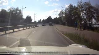 14.07.2017 Момент ДТП на Набережной. Вероятной за рулем пьяница (Ижевск)