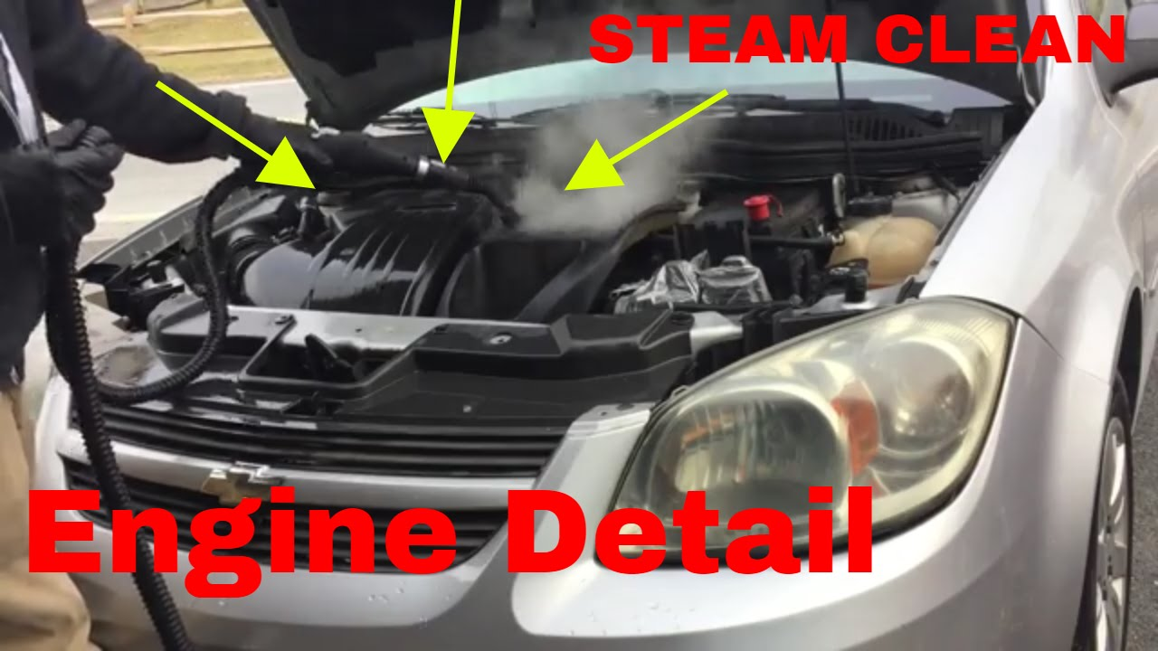 Auto Steam Cleaner >> Detail An Auto Engine Compartment With Mcculloch 1275 Steamer