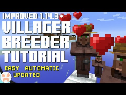 UPDATED VILLAGER BREEDER TUTORIAL! | Easy, Automatic, 1.15