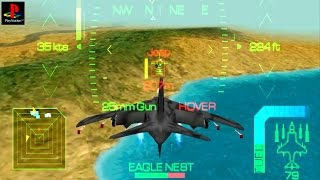 Eagle One: Harrier Attack - Gameplay PSX / PS1 / PS One / HD 720P (Epsxe)