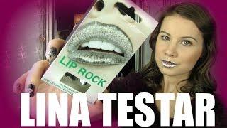 ♡ LINA TESTAR - LIP ROCK silver metallic lip foils ♡
