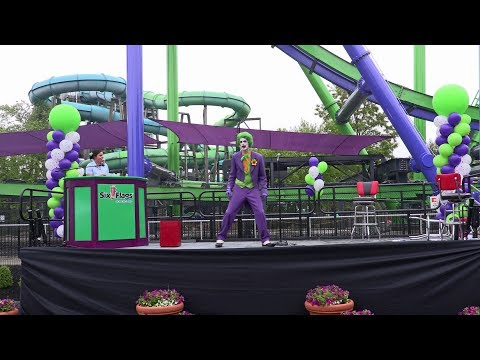 THE JOKER opening ceremony at Six Flags New England