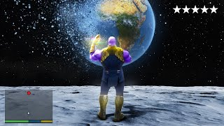 Playing as THANOS in SPACE in GTA 5!