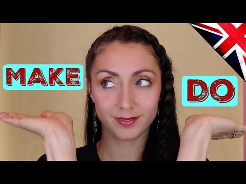 MAKE and DO: Learn English  / LIVE BRITISH ENGLISH LESSON