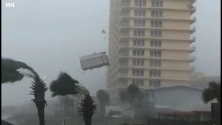 Cat 5 Hurricane Michael in Panama City Beach and Mexico Beach, Florida - October 10, 2018