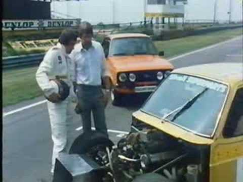 Jackie Stewart in Mk2 Escorts at Snetterton