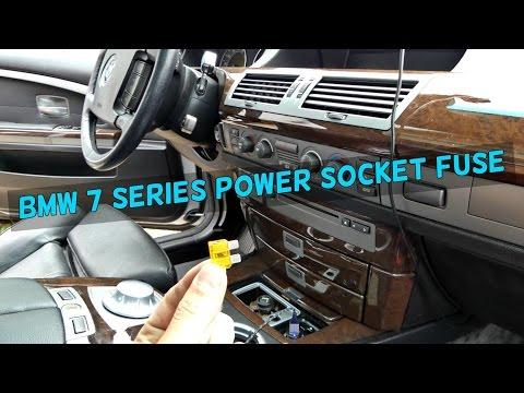 bmw e65 e66 cigarette lighter power socket usb not working fuse - youtube