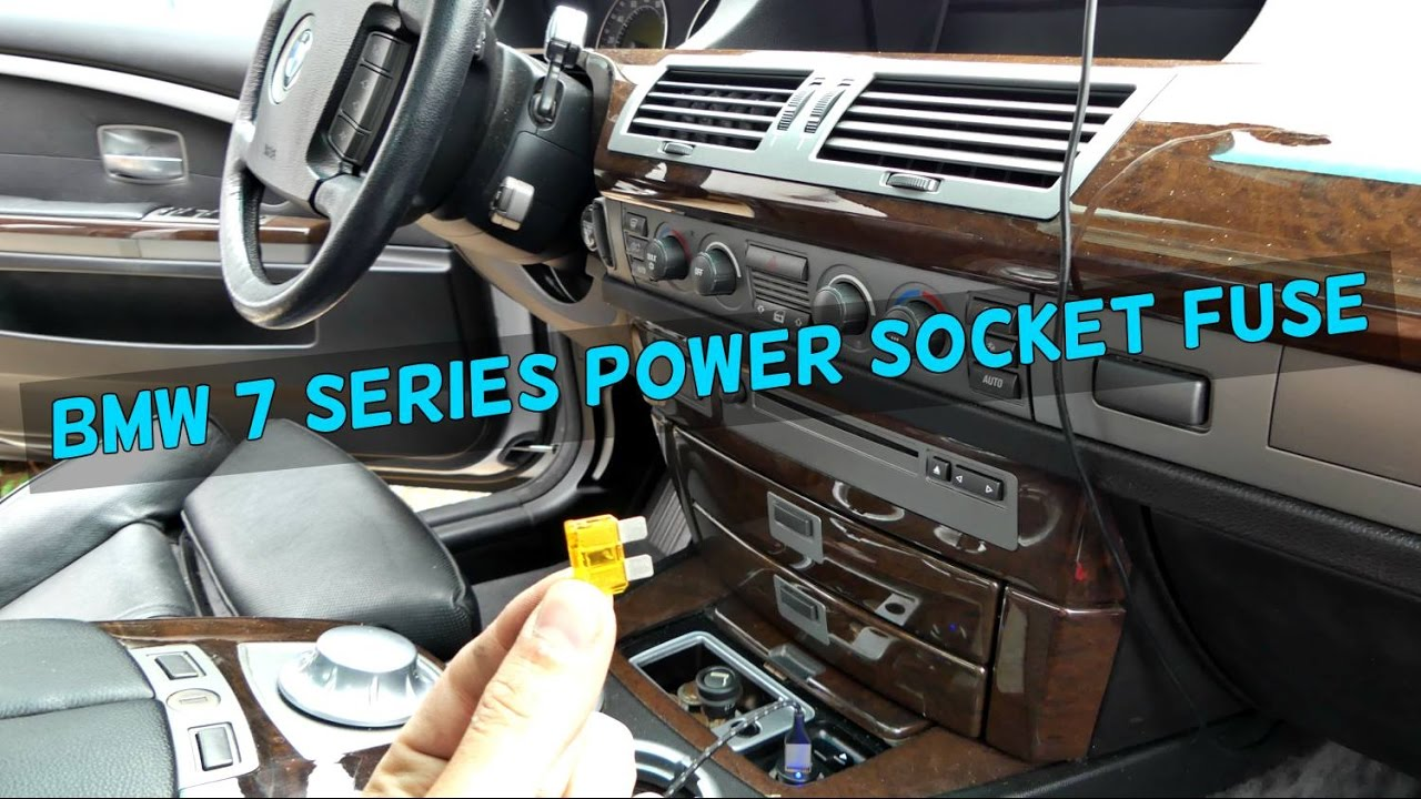 bmw e65 e66 cigarette lighter power socket usb not working fuse