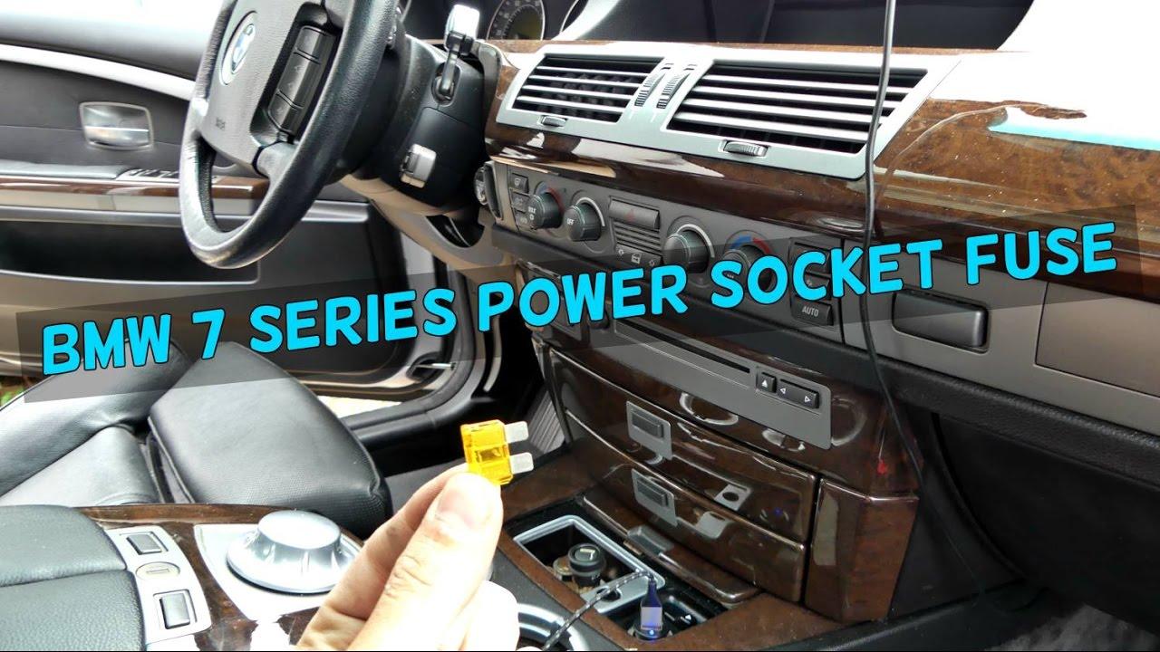 BMW E65 E66 CIGARETTE LIGHTER POWER SOCKET USB NOT WORKING