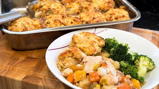 Chicken Casserole & Crispy Dumplings