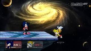 Super Smash Flash 2 Dark Sonic vs Super Tails