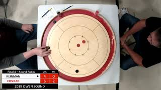 Crokinole 2019 Owen Sound Final 4 - Reinman v Conrad