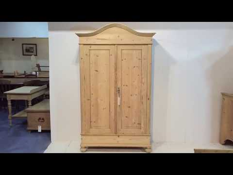 Lovely Arched Top Antique Pine Wardrobe - Pinefinders Old Pine Furniture Warehouse