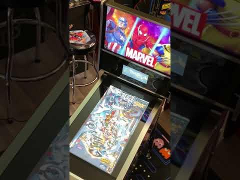 Arcade1up Marvel Pinball: Ghost Rider Gameplay from Kelsalls Arcade