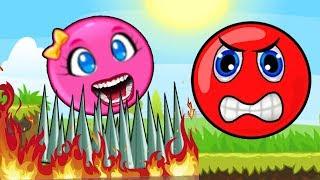 - Красный Шарик И РОЗОВЫЙ ШАР ДЕВОЧКА Red Ball только для детей
