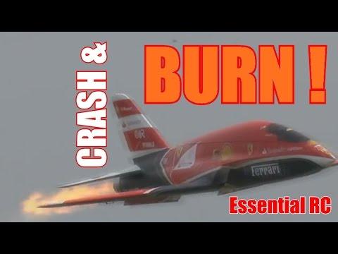 RC radio control airplane CRASH & BURN compilation
