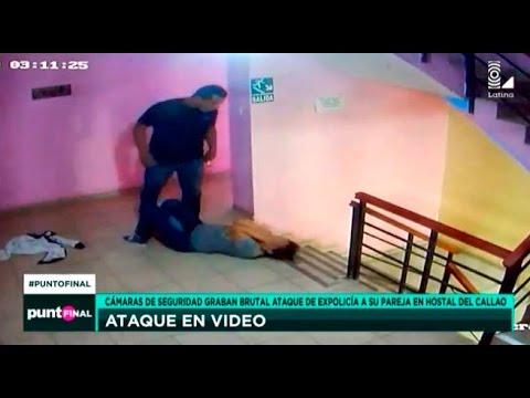 Download Cámaras de seguridad graban a ex policía atacando brutalmente a su pareja