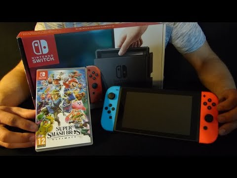 ASMR - Nintendo Switch & Super Smash Bros Ultimate thumbnail
