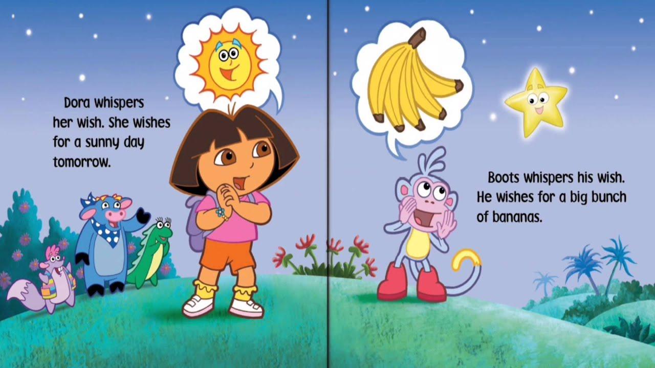 Dora The Explorer - Dora's Bedtime Wishes story - KidsChannelTV