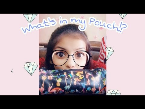what's-in-my-pouch/necessities❓😮 vedikajaokar