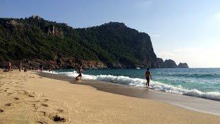 Пляж Клеопатры Алания. Kleopatra beach Alanya. Лучшие песчаные пляжи Турции.(Красивый и уютный пляж