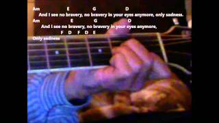 How To Play 'No Bravery' By James Blunt On The Guitar