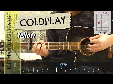 Coldplay - Yellow | simple guitar lesson