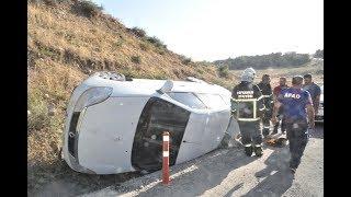Virajı Alamayan Otomobil Devrildi: 1 Yaralı